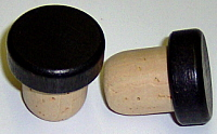 Smooth Black Wood Top Liquor Stopper 20 1mm Diameter