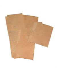 "High Grade Musical Cork Sheets - 12"" x 4"" x 1/64"""